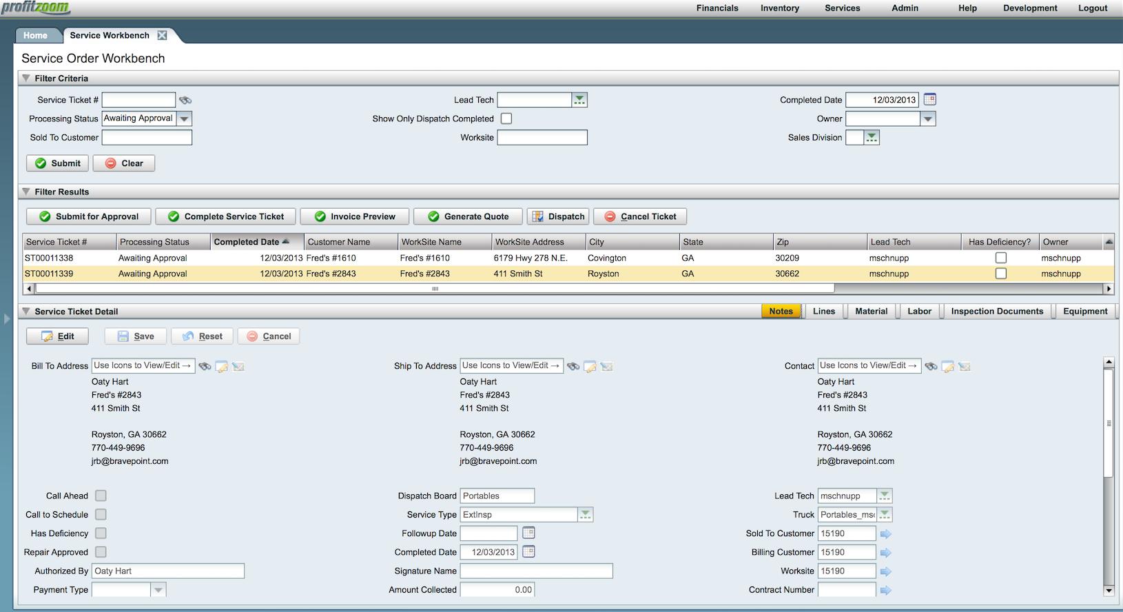 ProfitZoom Software - Workbench