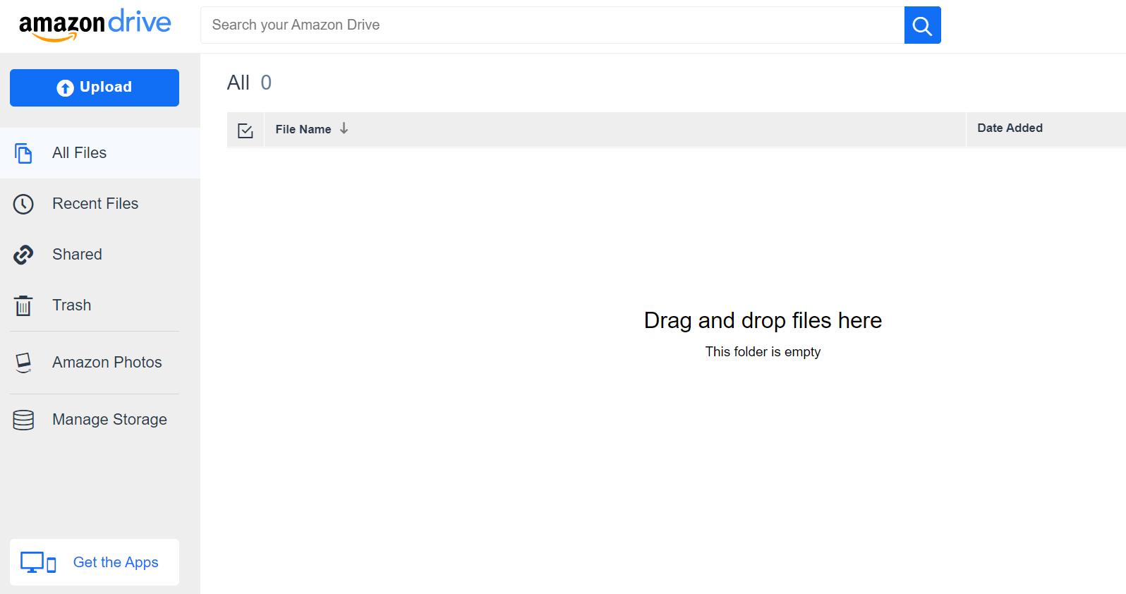 Amazon Drive web interface