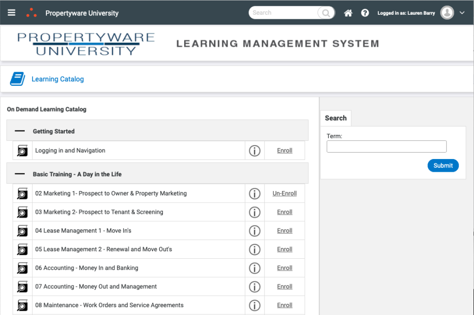 Propertyware University