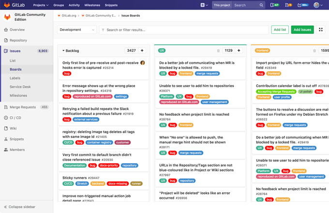 Visualize, prioritize, coordinate, and track progress with GitLab's flexible project management tools