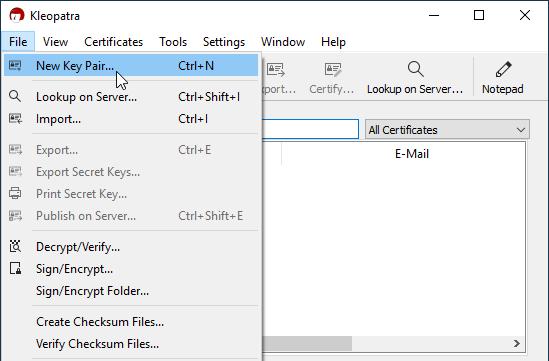 Files.com generating GPG keys screenshot