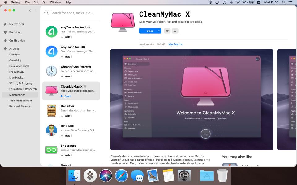 Setapp app screen