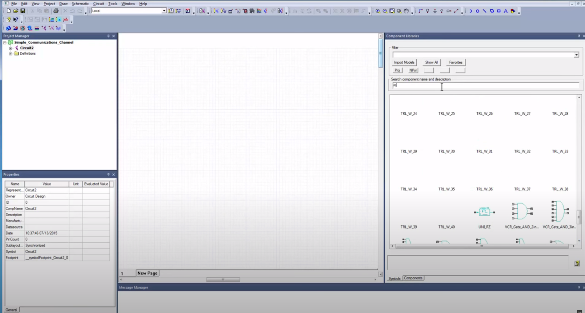 Ansys component library