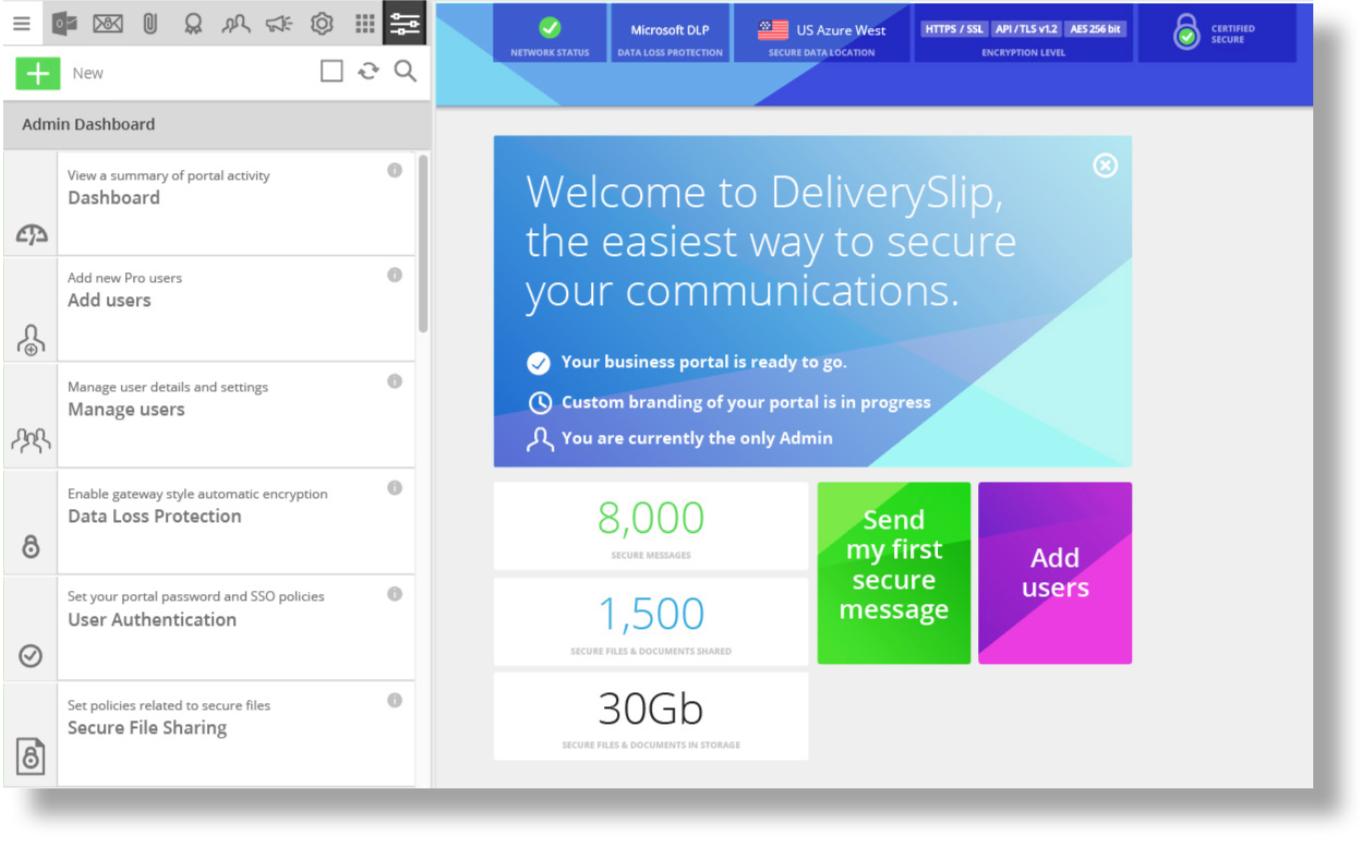DeliverySlip Software - DeliverySlip admin dashboard