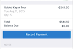 Checkfront screenshot: Booking & Payment Management via Mobile