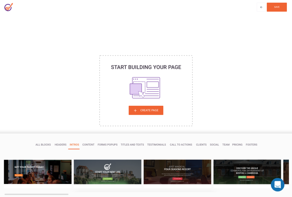 EngageBay Software - Create a fully custom landing page or adapt one of the pre-existing templates
