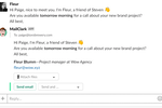 MailClark screenshot: Slack - Send out your email or external messages directly within Slack
