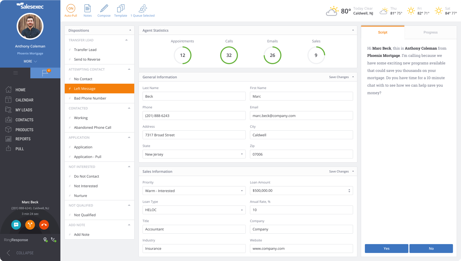 ClickPoint dialing solution screenshot