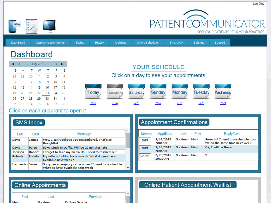 Patient Communication Dashboard