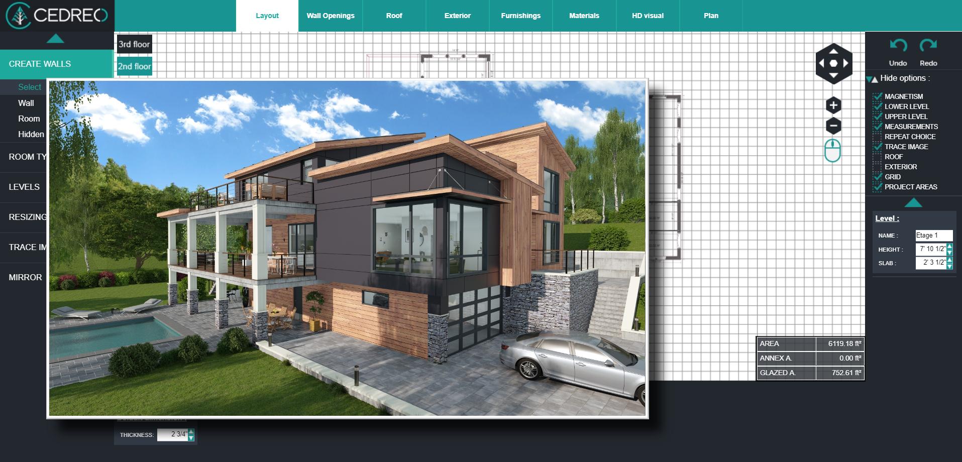 Cedreo Software - Cedreo 3D Exterior