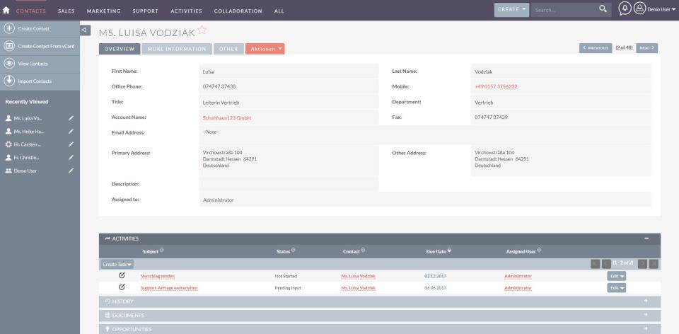 SuiteCRM Software - 3
