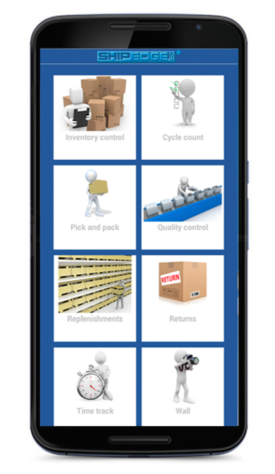 Shipedge screenshot: Shipedge is supported by a companion native app for Android smartphones