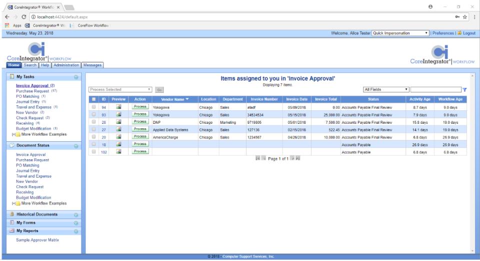 CoreIntegrator Workflow Logiciel - 1
