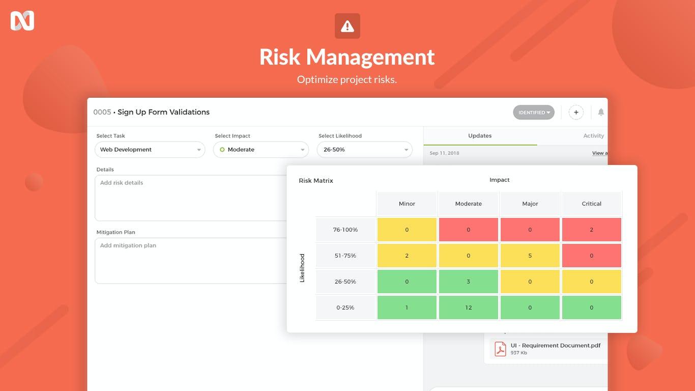 nTask Software - nTask Risk Management