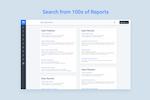 MoData Suite Screenshot: Search Reports