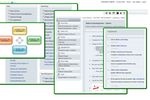 TouchStone Business System screenshot: The process organization hierarchy aims to simplify process identification