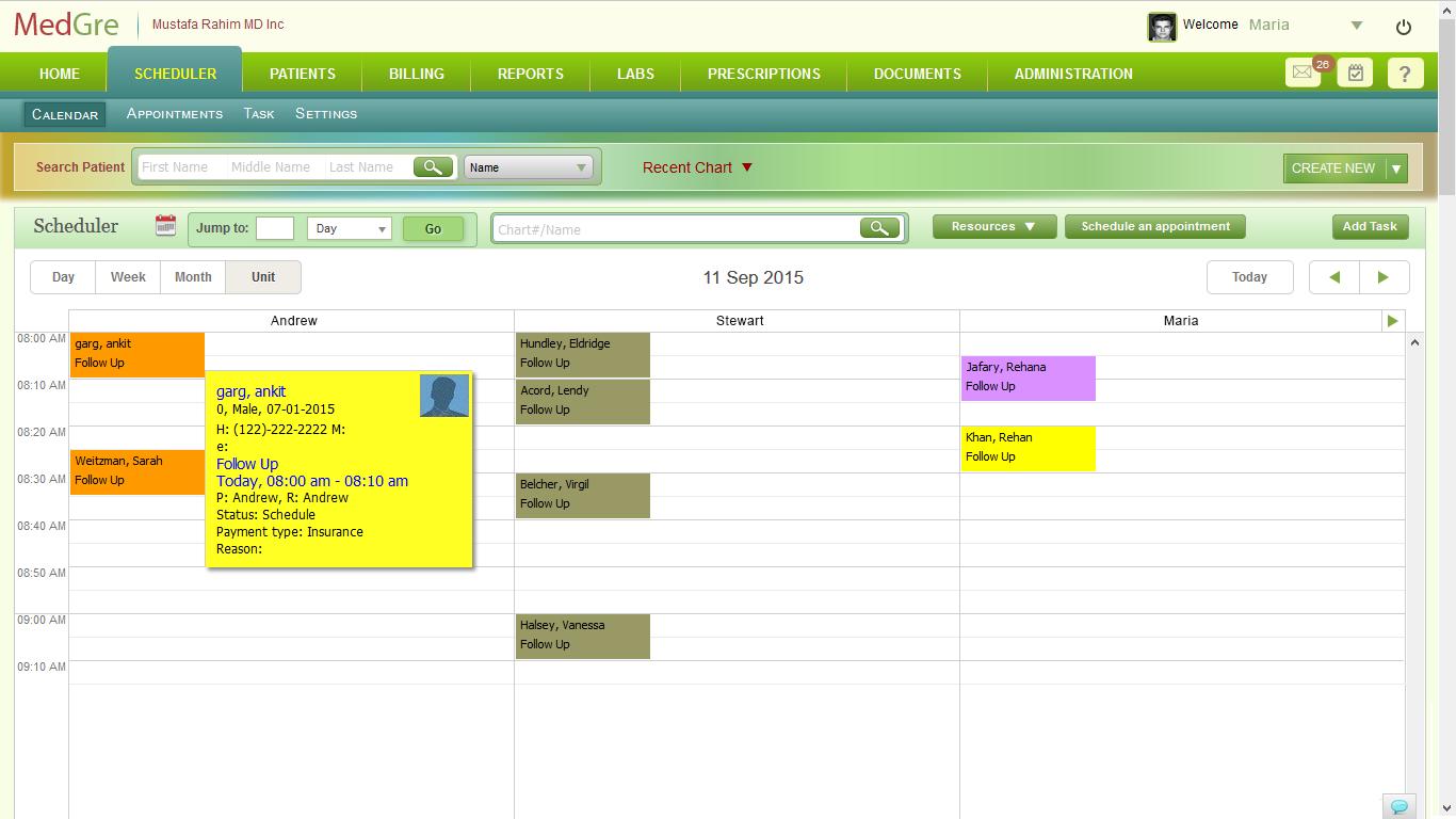 MedGre Software - MedGre scheduler
