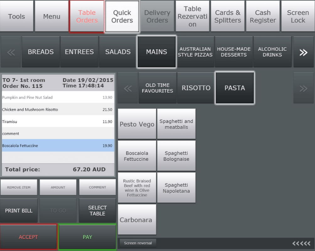 Manage and assign restaurant orders