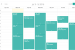 OptiSigns screenshot: The calendar tool can be used to schedule screen changes