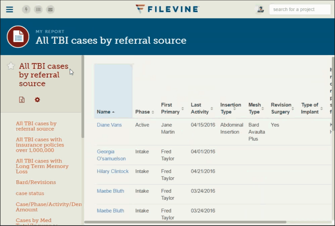 The software lets users track case history