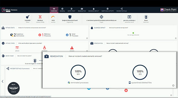 Harmony Endpoint attack remediation