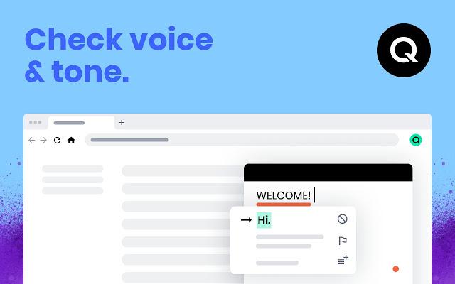 Qordoba screenshot: Check for your brand's voice & tone   Qordoba