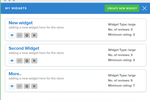 Synup screenshot: Use the widget customizer to choose what kind of reviews to show