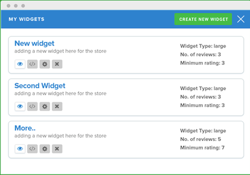 Use the widget customizer to choose what kind of reviews to show