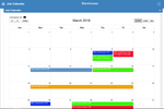 Electric Ease screenshot: A calendar lets teams view the scheduled jobs for the day