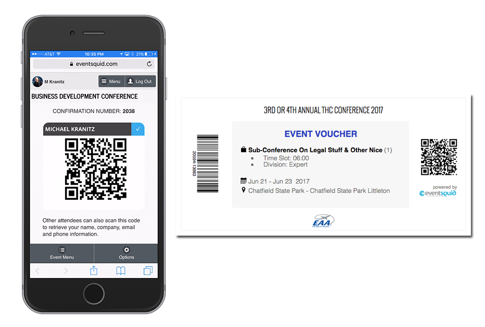 Check-in tools are compatible for use on most mobile devices, allowing event door staff to scan coded attendee badges, tickets, vouchers, lanyards etc