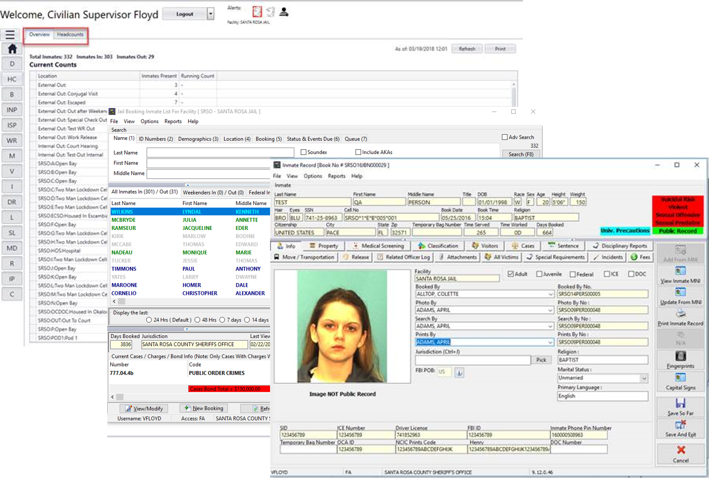 SmartJAIL provides users with instant access to detailed inmate histories