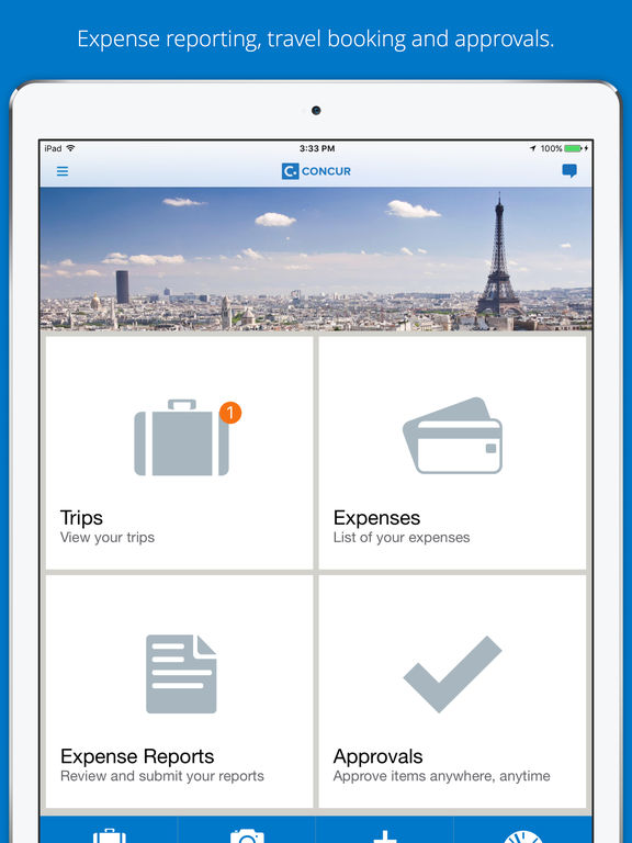 Concur submit claims through mobile