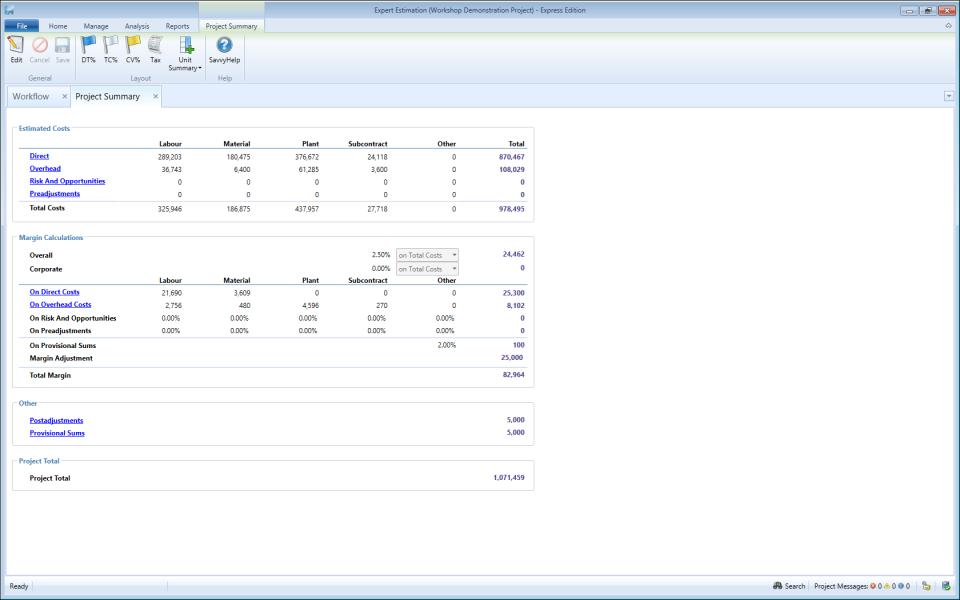 Expert Estimation Project Summary