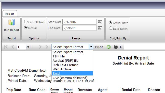 Report Export