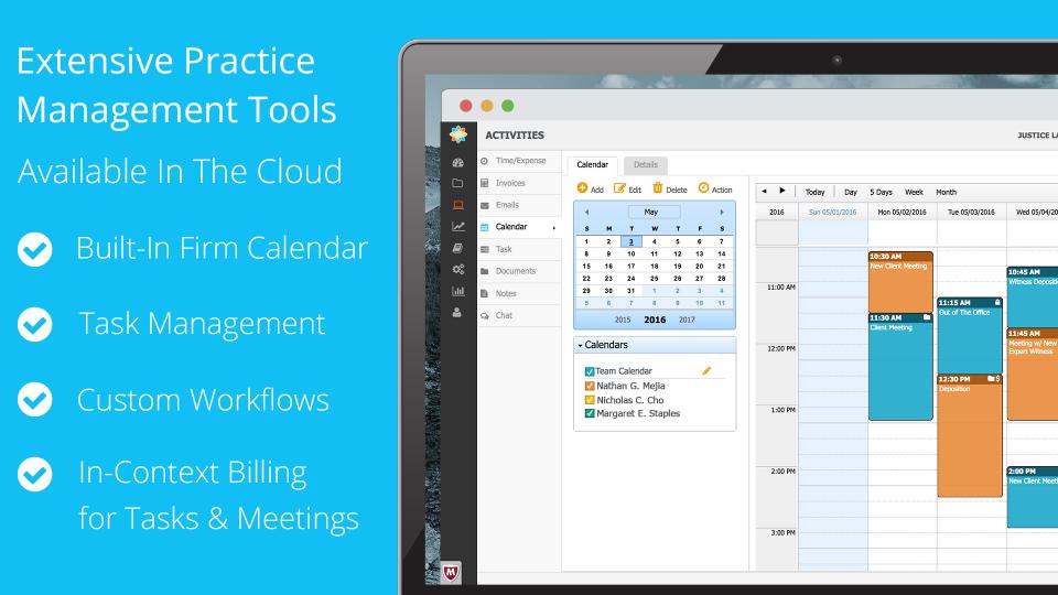 CosmoLex - Extensive Practice Management Tools