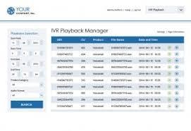 Metaphor IVR+ Software - IVR playback manager