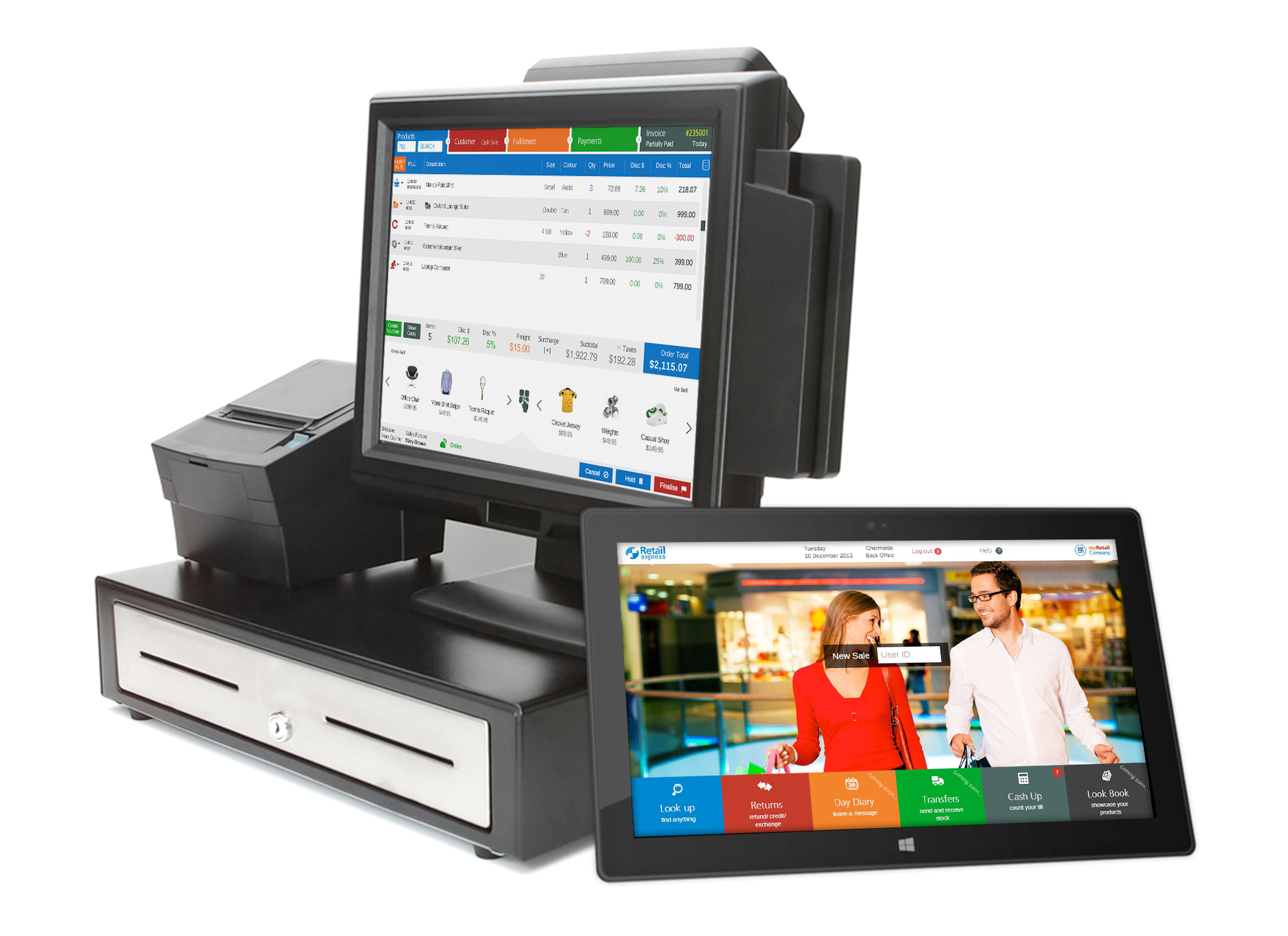 Retail Express POS Screen