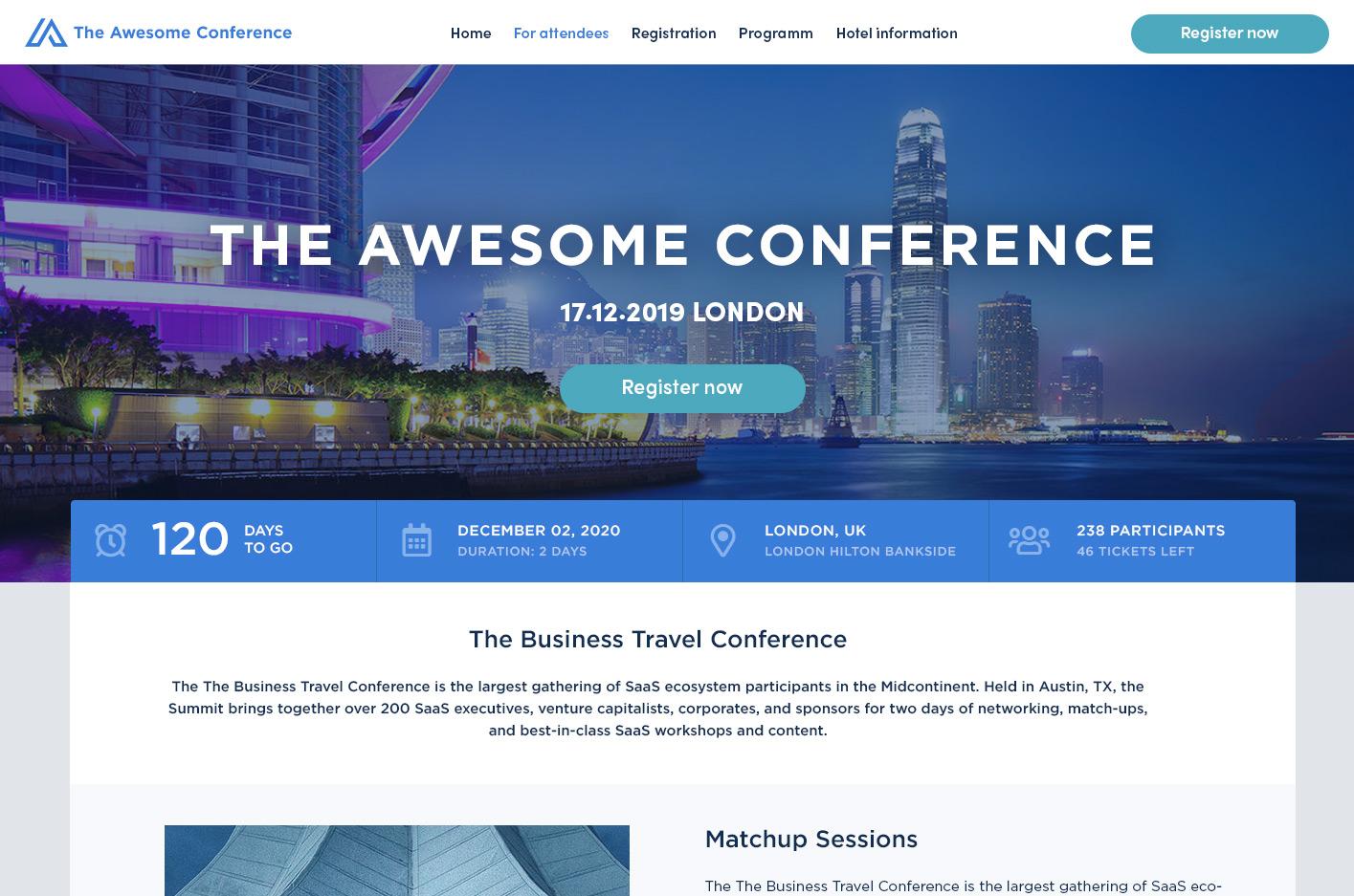 Eventwebsite