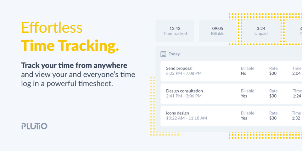 Plutio Software - Time Tracking