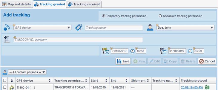 TIMOCOM Smart Logistics System transport tracking