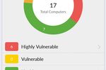 Capture d'écran pour ManageEngine Patch Manager Plus : Users can view system health summaries to identify healthy and vulnerable systems