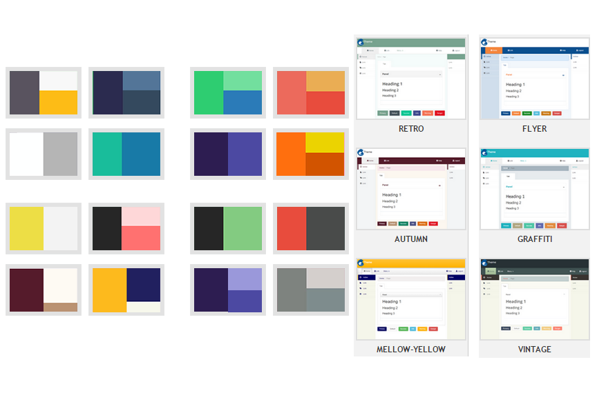 WaveMaker also includes themes for consistent page and UI element design