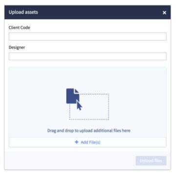 NetX asset upload form