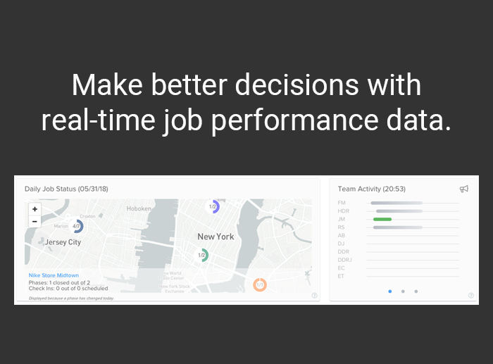 Make better decisions with real-time job performance data.