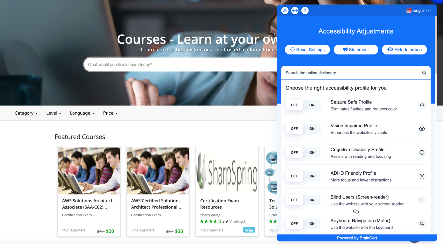 Courses Marketplace