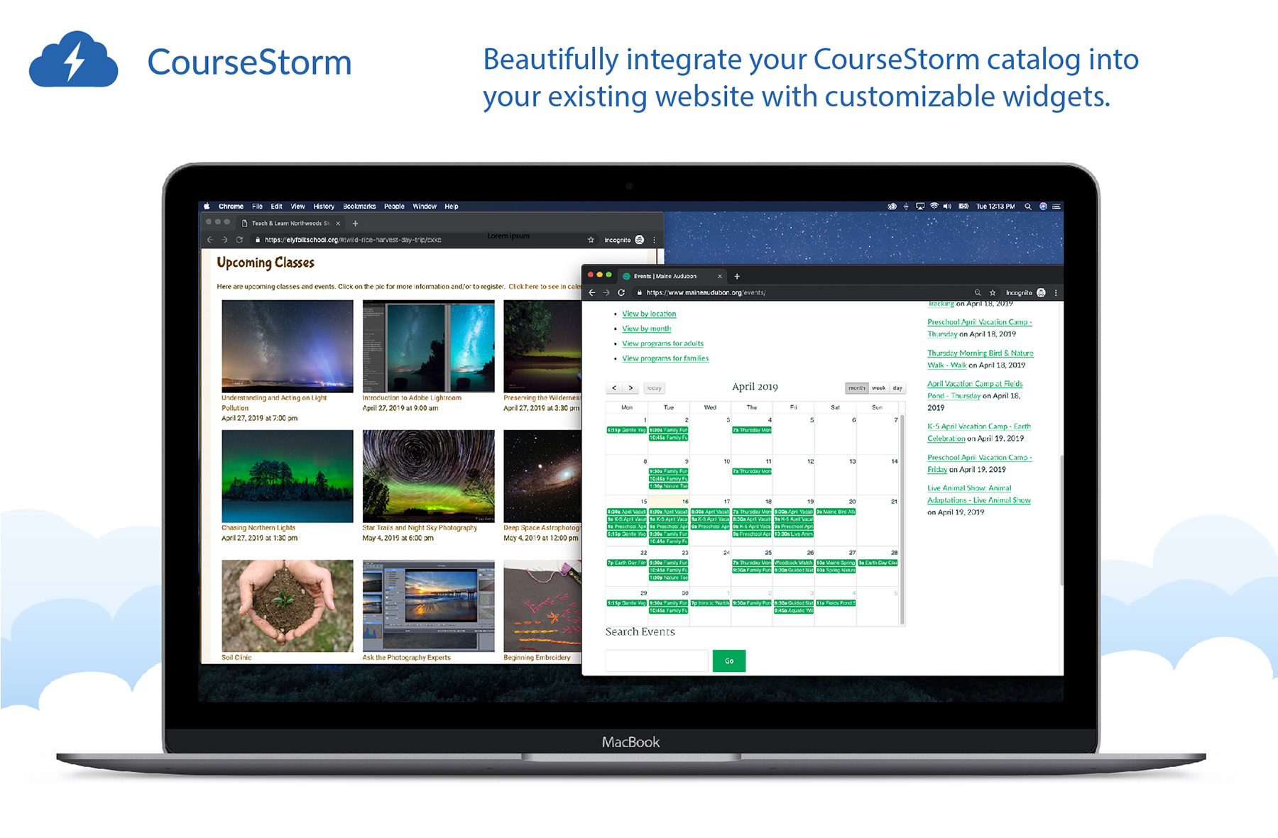 Beautifully integrate your CourseStorm catalog into your existing website with our customizable widgets.