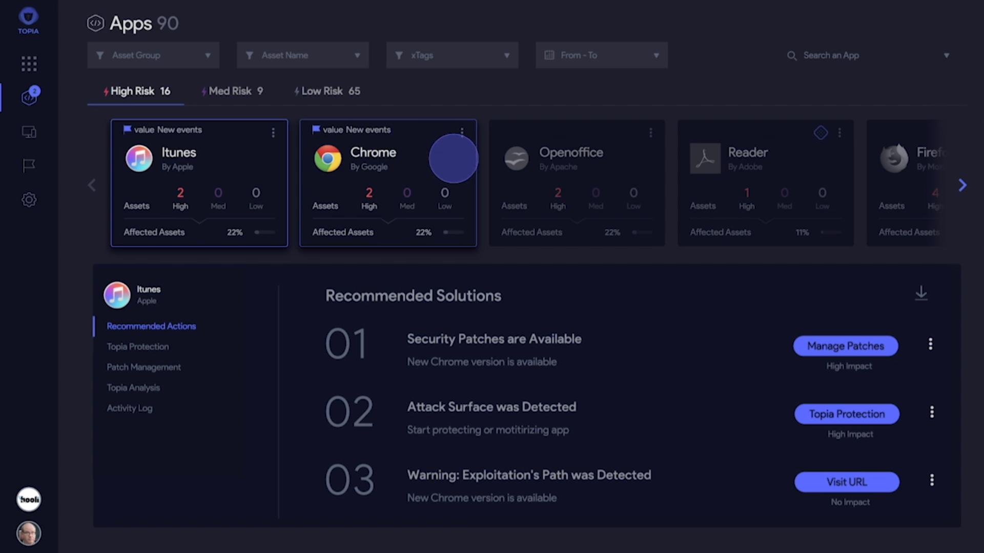 TOPIA Software - TOPIA application performance management