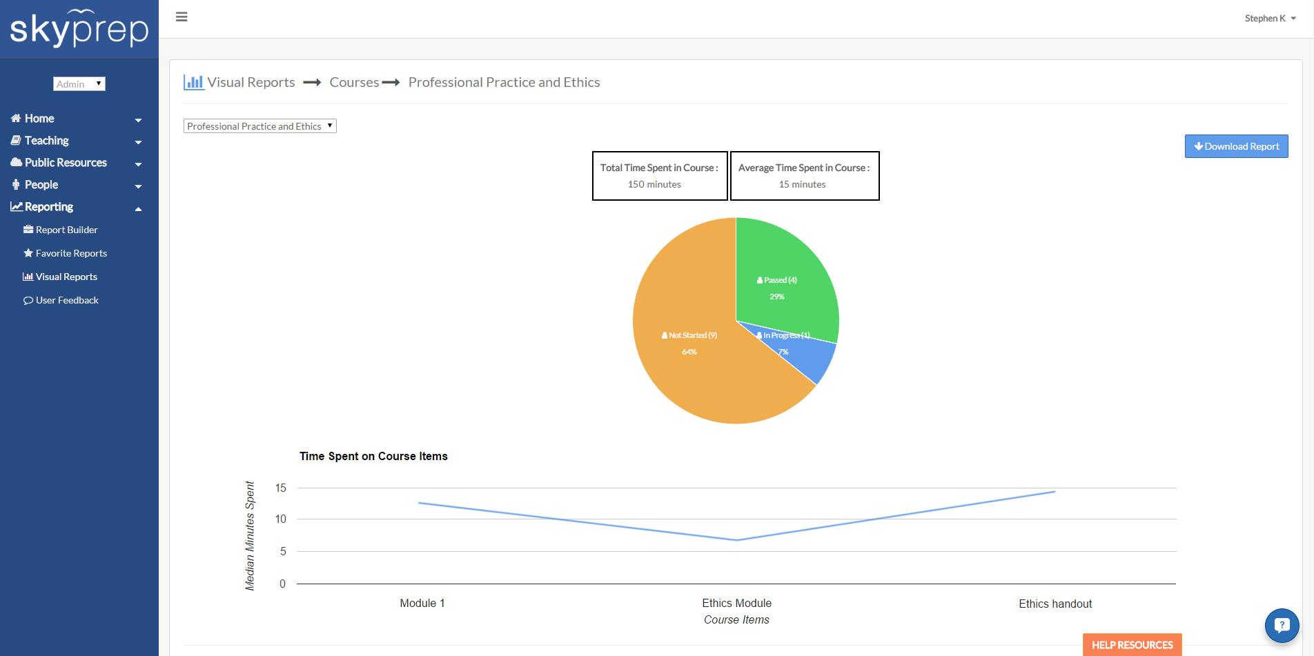 Visual Course Report