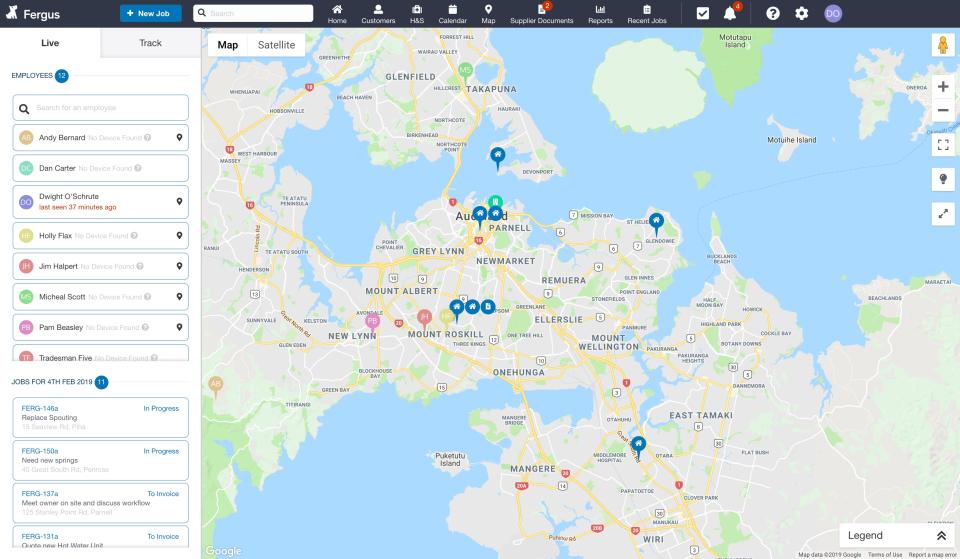 Employee Map
