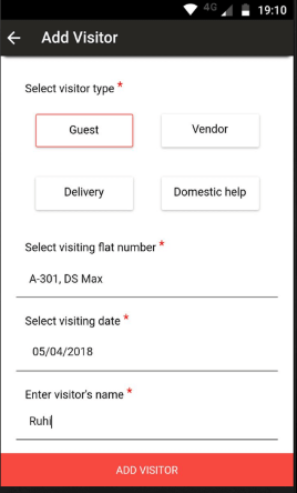 TheHouseMonk visitor registration dashboard